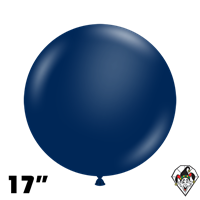 TUFTEX 17 Inch Round Metallic Midnight Blue Balloons 50ct