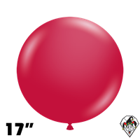 TUFTEX 17 Inch Round Metallic Starfire Red Balloons 50ct