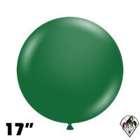TUFTEX 17 Inch Round Metallic Forest Green Balloons 50ct