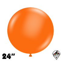 TUFTEX 24 Inch Round Standard Orange Balloons 25ct