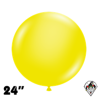 TUFTEX 24 Inch Round Crystal Yellow Balloons 25ct