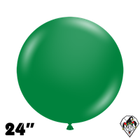 TUFTEX 24 Inch Round Crystal Emerald Green Balloons 25ct