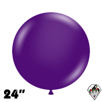 TUFTEX 24 Inch Round Crystal Purple Balloons 25ct
