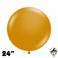 TUFTEX 24 Inch Round Metallic Gold Balloons 25ct