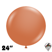 TUFTEX 24 Inch Round Deluxe Burnt Orange Balloons 25ct