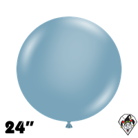 TUFTEX 24 Inch Round Pastel Blue Slate Balloons 25ct