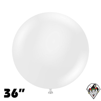 TUFTEX 36 Inch Round Crystal Clear Balloons 2ct