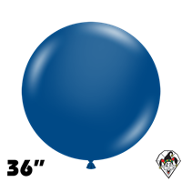 TUFTEX 36 Inch Round Crystal Sapphire Blue Balloons 2ct