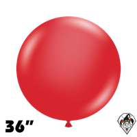 TUFTEX 36 Inch Round Crystal Red Balloons 2ct