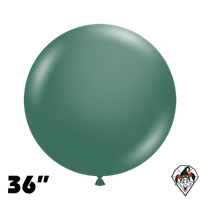 TUFTEX 36 Inch Round Deluxe Evergreen Balloons 2ct