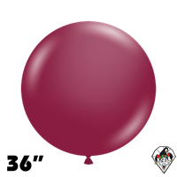 TUFTEX 36 Inch Round Deluxe Sangria Balloons 2ct