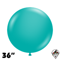 TUFTEX 36 Inch Round Deluxe Teal Balloons 2ct