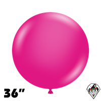 TUFTEX 36 Inch Round Deluxe Hot Pink Balloons 2ct