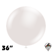TUFTEX 36 Inch Round Pearl White Balloons 2ct