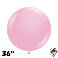 TUFTEX 36 Inch Round Pearl Shimmering Pink Balloons 2ct