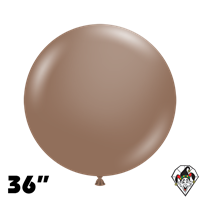 TUFTEX 36 Inch Round Deluxe Cocoa Balloons 2ct