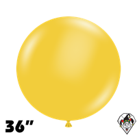 TUFTEX 36 Inch Round Deluxe Goldenrod Balloons 2ct