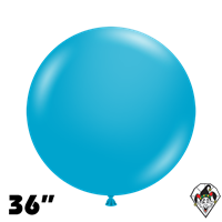TUFTEX 36 Inch Round Deluxe Turquoise Balloons 2ct