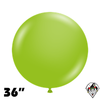 TUFTEX 36 Inch Round Deluxe Lime Green Balloons 2ct