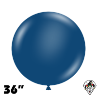 TUFTEX 36 Inch Round Deluxe Navy Balloons 2ct