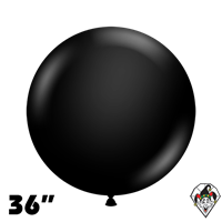TUFTEX 36 Inch Round Deluxe Black Balloons 2ct