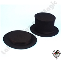 Clowning | Apparel | Hats | Collapsible Top Hat Black | Small