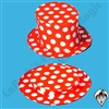 Clowning | Apparel | Hats | Polka Dot Top Hat Collapsible