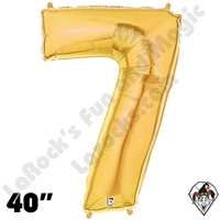 Betallatex 40 Inch Number 7 Gold Foil Megaloon Balloon 1ct