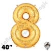 Betallatex 40 Inch Number 8 Gold Foil Megaloon Balloon 1ct
