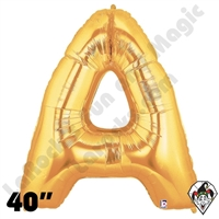 Betallatex 40 Inch Letter A Gold Foil Megaloon Balloon 1ct
