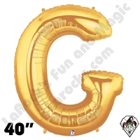 Betallatex 40 Inch Letter G Gold Foil Megaloon Balloon 1ct