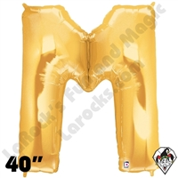 Betallic 40 Inch Letter M Gold Foil Megaloon Balloon 1ct