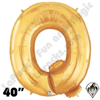 Betallatex 40 Inch Letter Q Gold Foil Megaloon Balloon 1ct