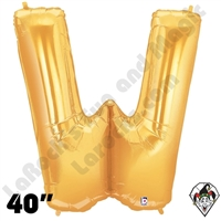 Betallatex 40 Inch Letter W Gold Foil Megaloon Balloon 1ct