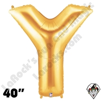 Betallatex 40 Inch Letter Y Gold Foil Megaloon Balloon 1ct