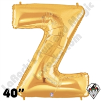Betallatex 40 Inch Letter Z Gold Foil Megaloon Balloon 1ct