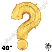 40 Inch Symbol Question Mark Gold Foil Megaloon Balloon Betallic 1ct