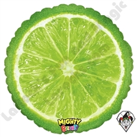 21 Inch Round Mighty Bright Lime Non-Foil Balloon Betallatex 1ct