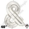 Betallatex 40 Inch Ampersand Silver Foil Megaloon Balloon 1ct