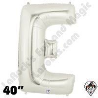 Betallic 40 Inch Letter E Silver Foil Megaloon Balloon 1ct