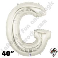 Betallatex 40 Inch Letter G Silver Foil Megaloon Balloon 1ct