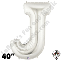 Betallatex 40 Inch Letter J Silver Foil Megaloon Balloon 1ct
