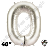 Betallic 40 Inch Letter O Silver Foil Megaloon Balloon 1ct