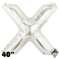 Betallatex 40 Inch Letter X Silver Foil Megaloon Balloon 1ct