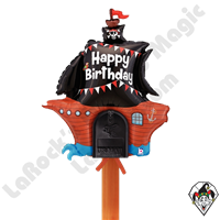 Betallic 34 Inch Shape Mailbox Birthday Pirate Ship Non-Foil Balloon 1ct
