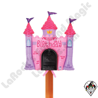 Betallic 34 Inch Shape Mailbox Birthday Princess Castle Non-Foil Balloon 1ct