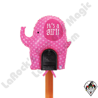 Betallic 31 Inch Shape Mailbox Its a Girl Elephant Non-Foil Balloon 1ct
