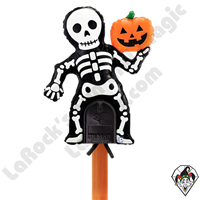 38 Inch Shape Mailbox Skeleton Non-Foil Balloon Betallatex 1ct
