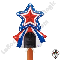 33 Inch Shape Mailbox Patriotic Star Non-Foil Balloon Betallic 1ct