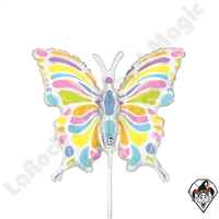 Betallic 14 Inch Shape Pastel Butterfly Foil Balloon 1ct
